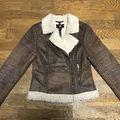 【冬物セール】H&M ボア ライダース レザージャケット