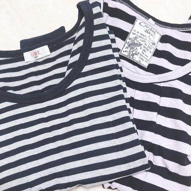 ボーダーTシャツ2枚セット(iiMK(アイエムケー) ) - フリマアプリ&サイトShoppies[ショッピーズ]