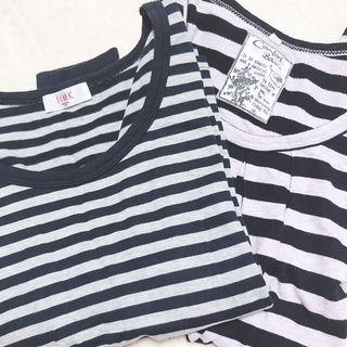ボーダーTシャツ2枚セット
