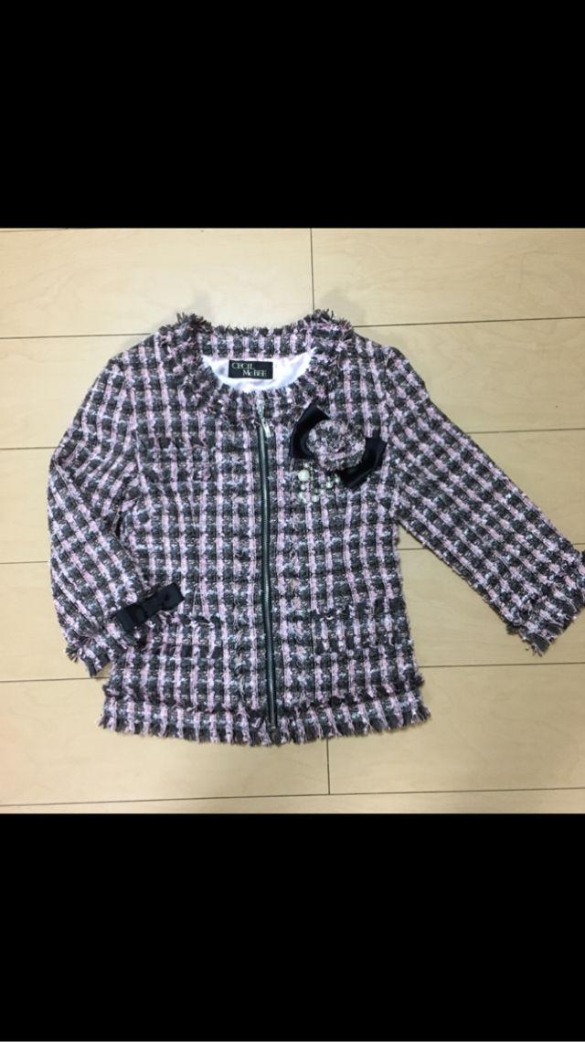 セシル 七分袖 ツイード ジャケット