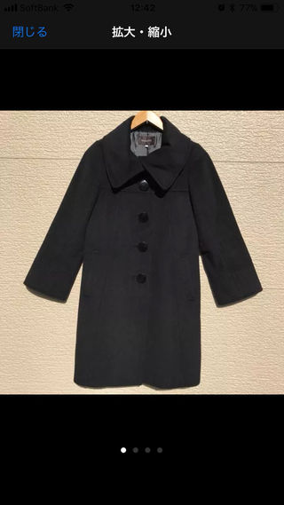 美品 JUSGLITTY コート 黒 2