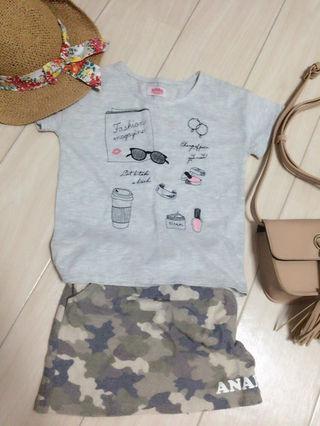 ANAPKIDS 刺繍Tシャツ