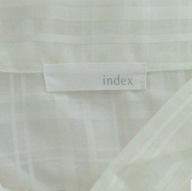 INDEX透け肩フリルりぼんブラウス