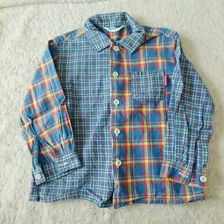 ムージョンジョン 100㎝ チェックシャツ