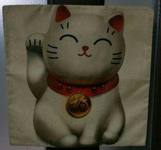 招き猫クッションカバー