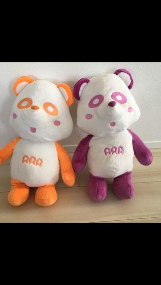 新品 えーパンダ BIG ぬいぐるみ 橙 紫