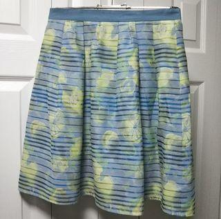 スカート フルーツ柄 夏物 ブルー