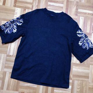 黒 black 刺繍チュニック ZARA H&M