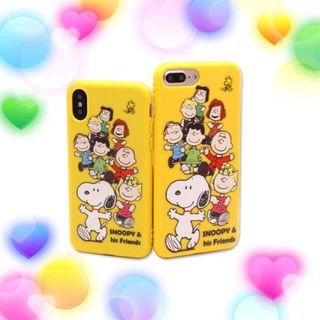 スヌーピーみんな集合iPhoneケース  黄色
