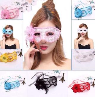 セール新品ハロウィンコスプレ総レースフラワーアイマスク