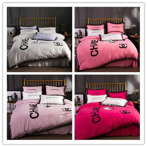 q148高級感 寝具カバー 2枚枕カバー 4点セット (iiMK(アイエムケー) ) - フリマアプリ&サイトShoppies[ショッピーズ]