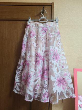 MERCURYDUO 花柄オーガンジースカート