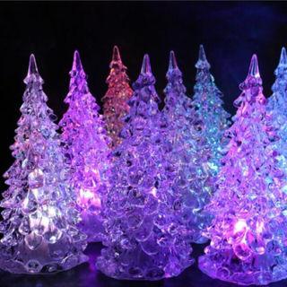 新品未使用レインボーイルミネーションLEDクリスマスツリー