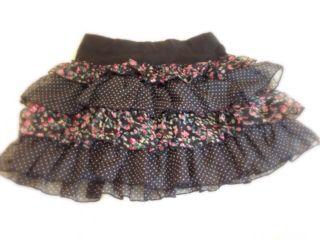 花柄フリル スカート