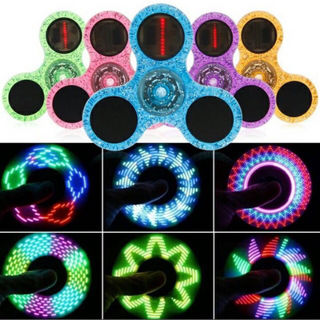 新品未使用LEDパターンアートキュートクリアラメハンドスピナ