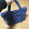 エゴイスト マクラメ編み ハンドバッグ