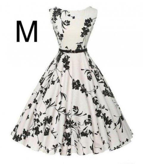 新品ベルト付き花柄綺麗ワンピース ホワイト M - フリマアプリ&サイトShoppies[ショッピーズ]