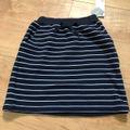 【新品】120cm 裏起毛ボーダースカート GU ジーユー