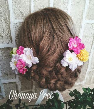 funwari 桜の髪飾り8点Set No03 浴衣