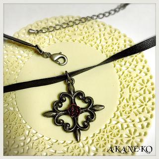 薔薇十字架のチョーカー [Silver]
