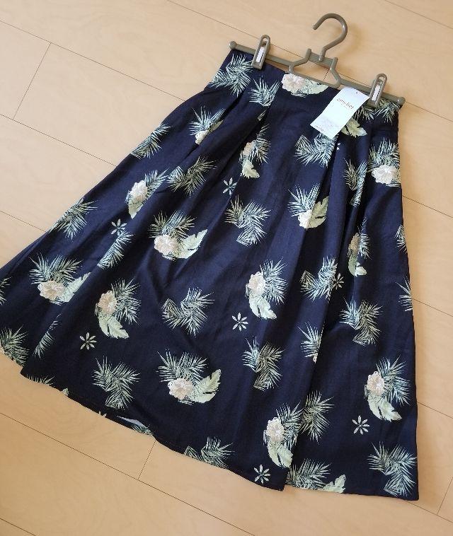 amelierボタニカル柄スカート