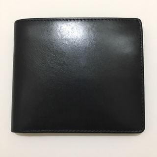 ホワイトハウスコックス革財布二つ折りレザーウォレットブラック