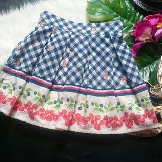 美品!Ank Rougeチェックスイーツプリーツスカート