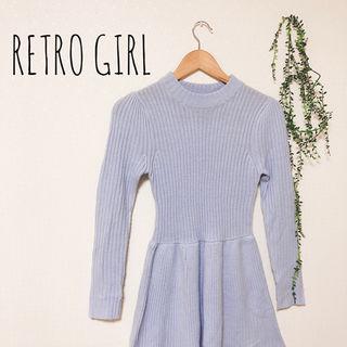 RETRO GIRL ひざ丈ニットワンピース