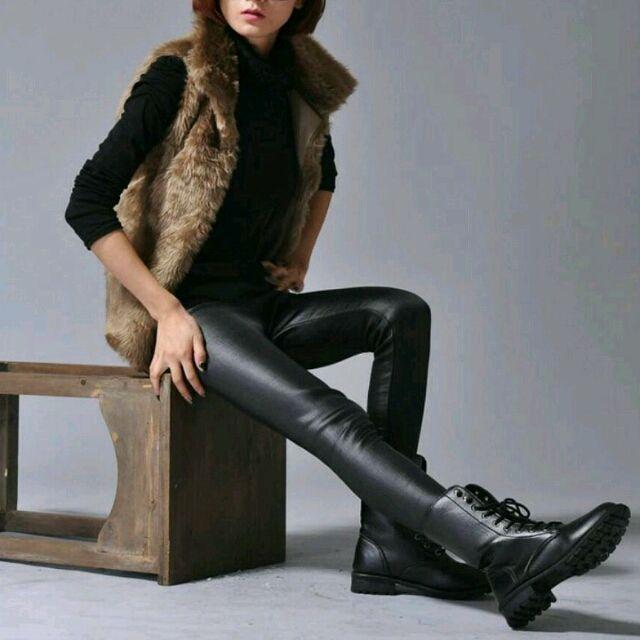 極暖レザーパンツ黒/Mサイズ/裏起毛