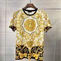 メンズ 半袖 Tシャツ ヴェルサーチ 新品 金色 l10