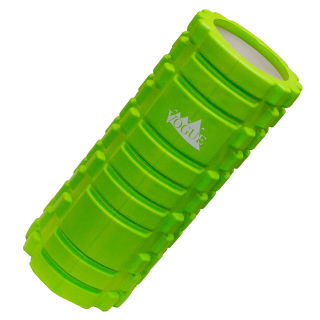 グリーン フォームローラー ヨガ 筋膜リリース