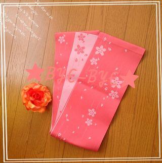 桜模様平帯&髪飾りセット浴衣