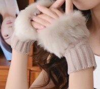 おしゃれ爪 女の子へ指なし手袋 ベージュ