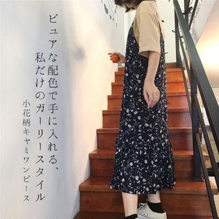 ワンピース 小花柄キャミワンピース M/L/XL