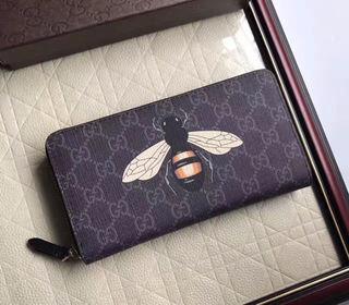 長財布 可愛いバラ色 グッチ オシャレ