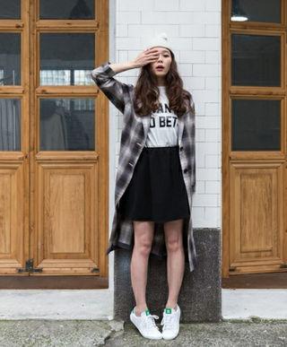 【美品】JEANASIS チェックガウンロングシャツ