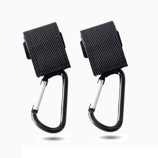【黒】ベビーカーフック2個セット 超耐荷重