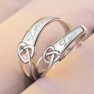 即日発送 2個セット ペアリング シルバーリング 指輪