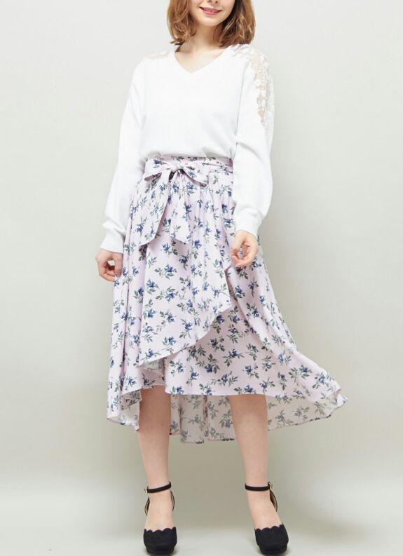 INGNI【春の新作】花柄ラップイレヘム/スカート
