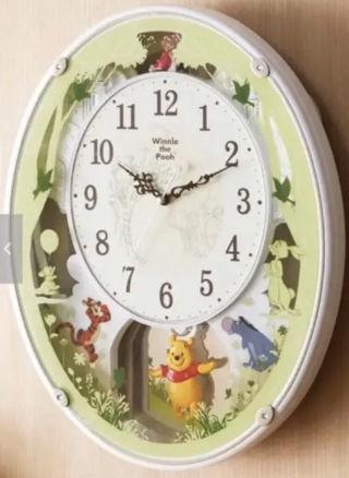 電波メロディ振り子時計(くまのプーさん)