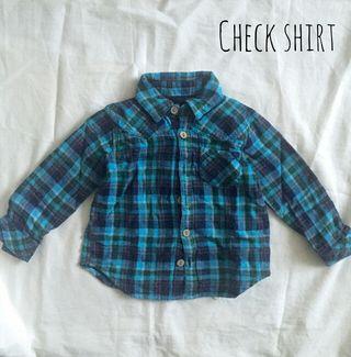 ベビーチェックシャツ 80