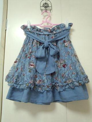 axes femme:リバーシブル花柄スカート