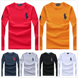 POLO メンズ長袖Tシャツ 6色選択 綿