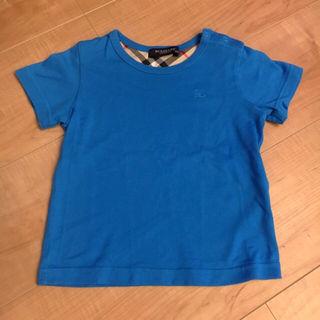【80cm】バーバリー Tシャツ トップス ブルー
