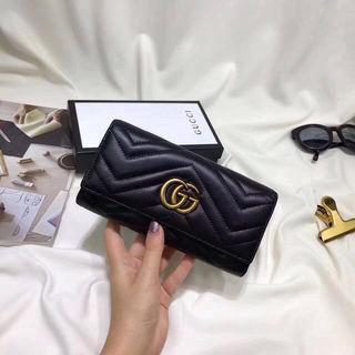 【新品】高品質 国内発送Gucci長財布