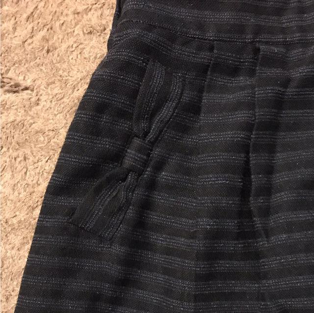 pour la frime紺色ボーダースカート