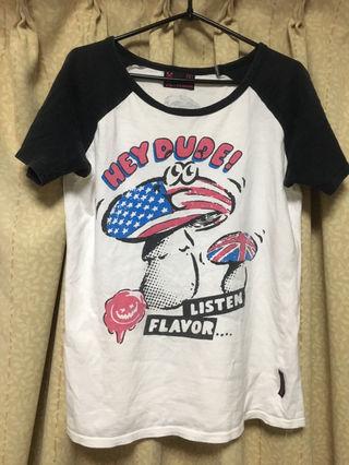 LISTEN  FLAVOR きのこTシャツ