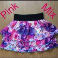 Pink Mix花柄シフォンスカート