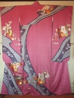 ローズピンク絞り*振袖「丸昌」チョー美品トール丈