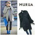 MURUA*ウールボリュームカラーコート